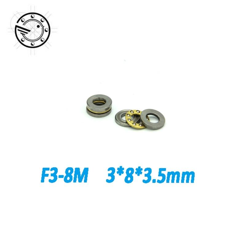 Бесплатная доставка, 10 шт., F3-8M упорный шариковый подшипник 3x8x3,5 мм