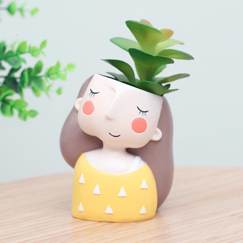 Chica Linda maceta de flores maceta crear diseño encantador niñas casa jardín