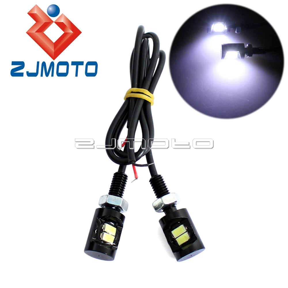 Zjmoto luz de led para número de motocicleta, luz de placa de número de matrícula de carro