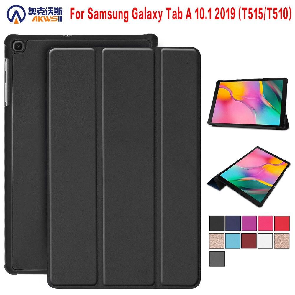 Sprawa dla Samsung Galaxy Tab A 10.1 2019 SM-T510 piórnik dla Samsung galaxy Tab SMT515 PU skóra pokrywa capa dla SMT510 T515