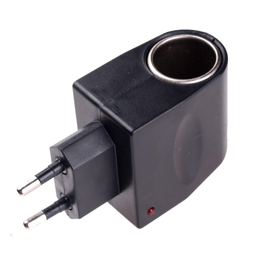 Elistooop 220V a 12V 6W Auto alimentador para encendedor de cigarrillos convertidor Adaptador de enchufe de la UE encendedor de cigarrillos de coche
