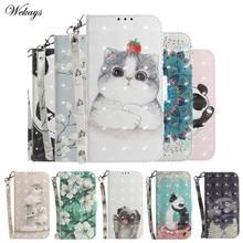 Phone Etui Coque Cover Case for Nokia 1 3.1 5.1 plus 3.2 4.2 6.1 7.1 8.1 X7 X6 9 Pureview Case With 3D Cat Panda Flip Wallet