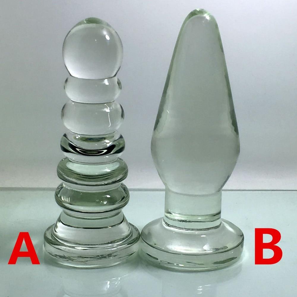 Clear glass huge big expansion anal dilator super large butt plug anus vagina masturbator stimulator buttplug anal beads plugs