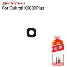 BingYeNing wysokiej jakości nowy oryginalny tylna soczewka aparatu dla Oukitel K6000 plus kamera tylna szklana soczewka