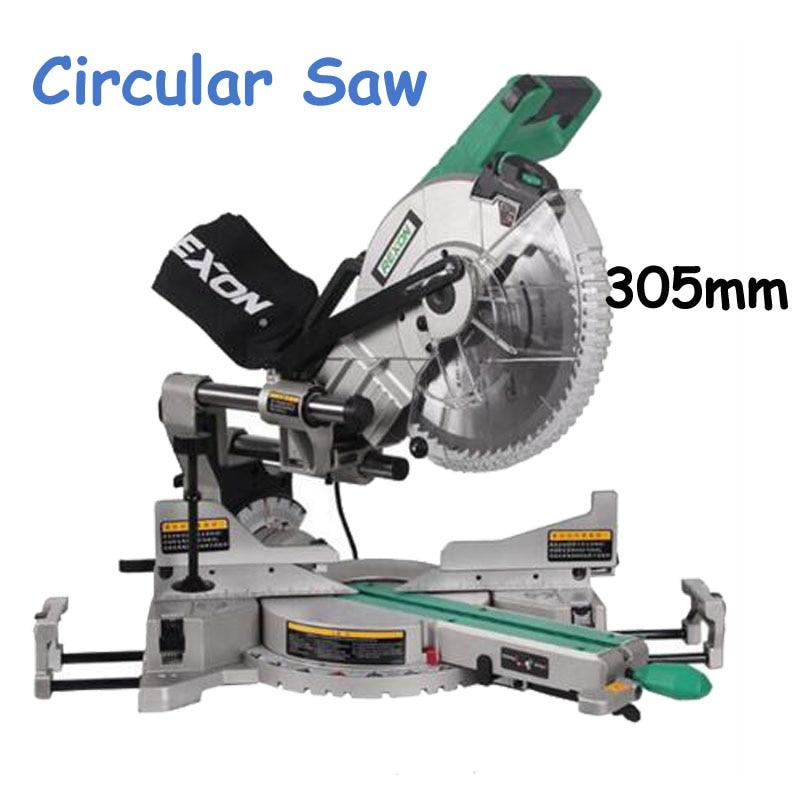 SM3057R آلة قطع ألومنيوم 305 مللي متر ، منشار خشب مزدوج الانزلاق ، آلة قطع دائرية ، 1800 واط ، 220 فولت