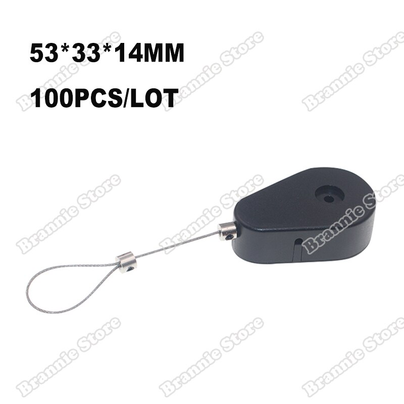 1200 unids/lote retráctil de seguridad de acero caja Cable tracción para valioso y productos electrónicos anti-robo envío gratis