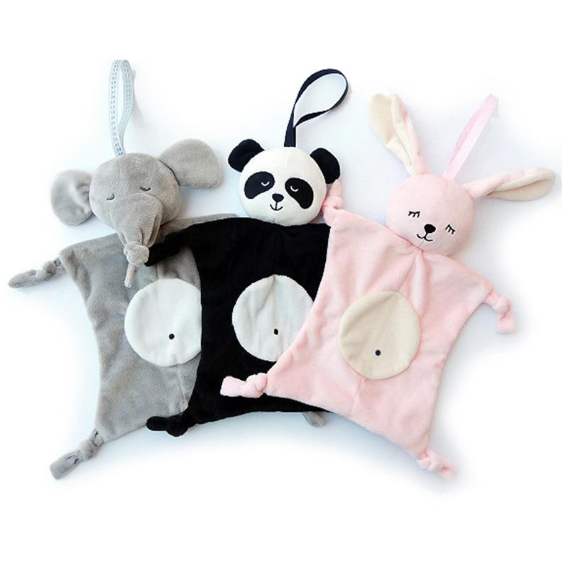Toalla calmante Blankie para recién nacido, juguetes para bebé con forma de Animal, regalo para bebé, toalla suave, juguetes de felpa educativos