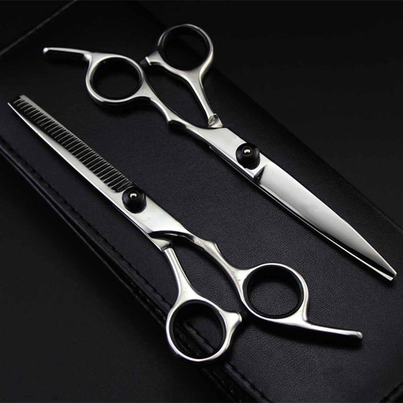 Professional Japan 4cr 6 inch Black cut hair scissors haircut sissors thinning barber hair cutting s