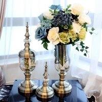 glass vase home decoration decoration artificial flower vase model room decoration