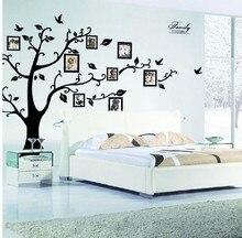Familie Fotolijst Vliegende Vogels Boom Muurstickers Arts Home Decorations Woonkamer Slaapkamer Decals Posters Pvc Muurstickers