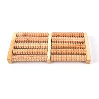 1pcs relax wooden roller foot massager stress relief health therapy massage tools for foot care tool wholesale