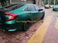 best quality emerald green satin matte chrome vinyl wrap car film air bubble free vehicle graphic foil sticker