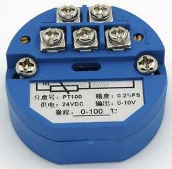 Ftt01 0-10 v saída 0-100c pt100 módulo transmissor de temperatura amplificador de temperatura sbwz templifier