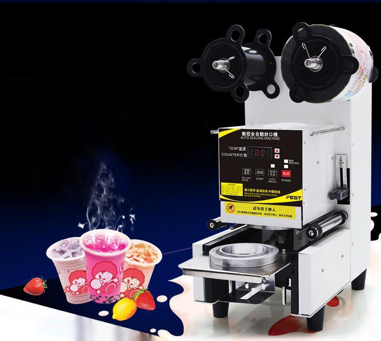 Automatic sealing machine Milk tea sealing machine Use for soya-bean milk pearl milk tea shop Manual sealing machine