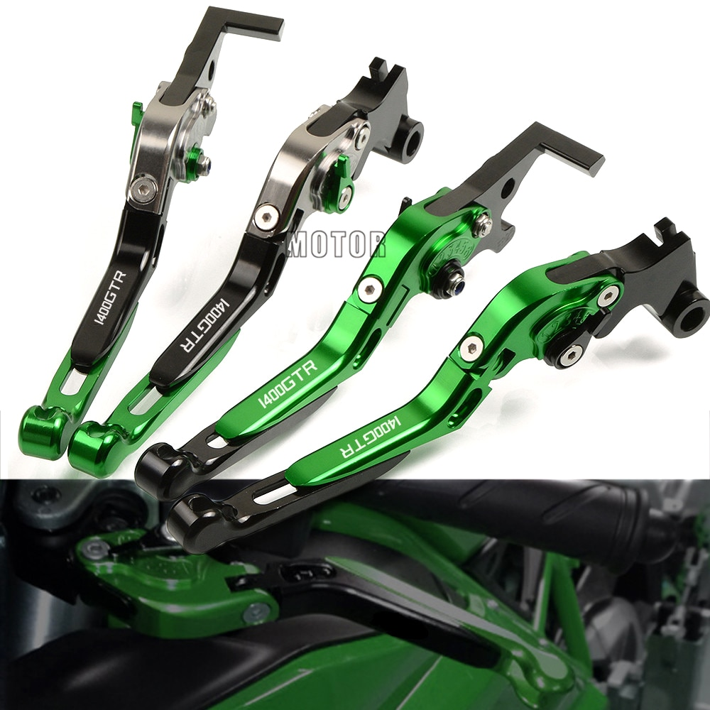 Palancas de freno de motocicleta CNC para Kawasaki GTR 1400 GTR1400 CONCOURS ZX 1400 14 R ZX1400 ZX14R ZZR 1400 ZZR1400 2006-2016