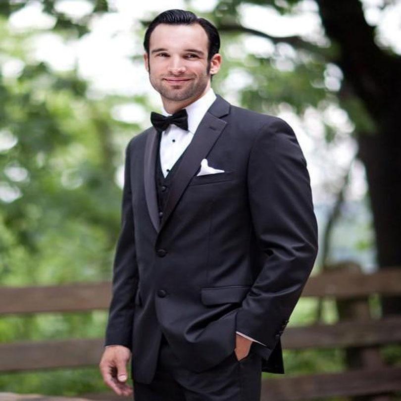 2018 جديد وصول الرجال وصفت الرجال دعوى العريس البدلات الرسمية الزفاف أفضل رجل السترة ثلاث قطع (سترة السراويل سترة ربطة القوس فيونكة)
