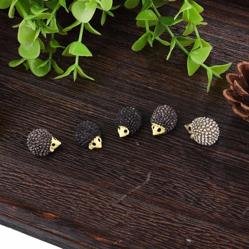 10 unids/set lindo Mini animales erizo oveja pollo estatuillas de hadas de jardín miniaturas casa Micro accesorios miniaturas Decoración