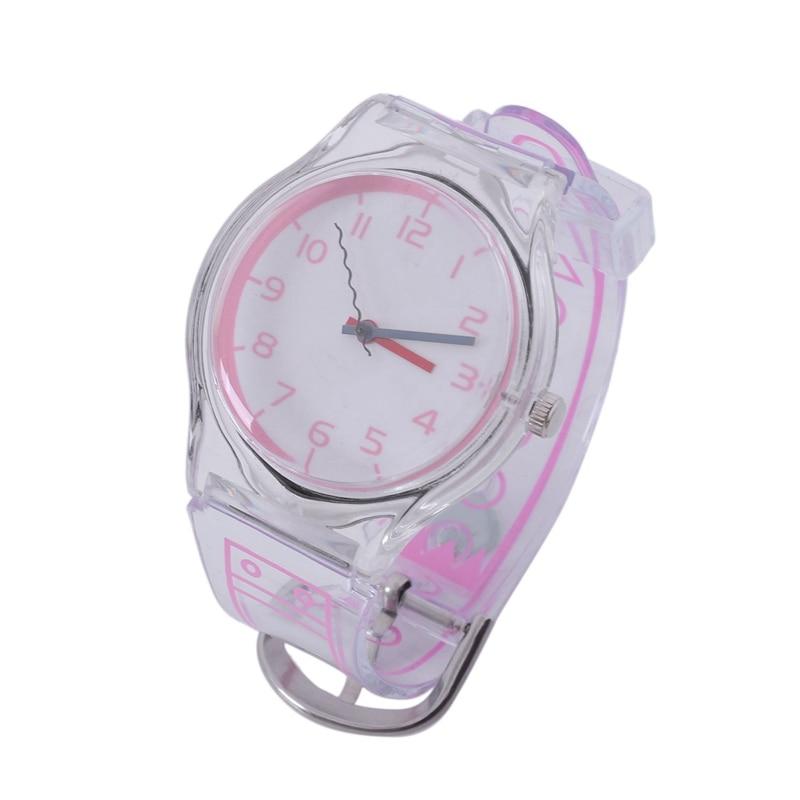 Reloj para niños Jelly Color Fresh Student transparente estilo Harajuku personalidad Digital chicas chicos cuarzo