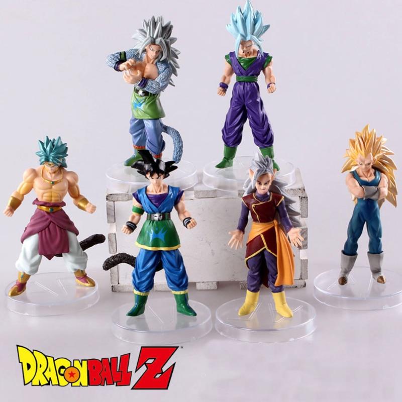 6 teile/satz Dragon Ball Z Goku Vegeta Broly Kakarotto Schlacht Ver PVC Action-figuren Dragonball Figur Spielzeug Sammlung Modell spielzeug