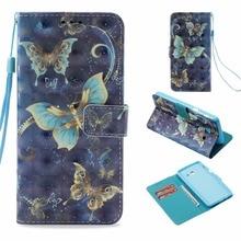 Nouveau Peint Papillon Fleur Tour portefeuille en cuir synthétique polyuréthane étui pour samsung galaxy J5 2017 version USA