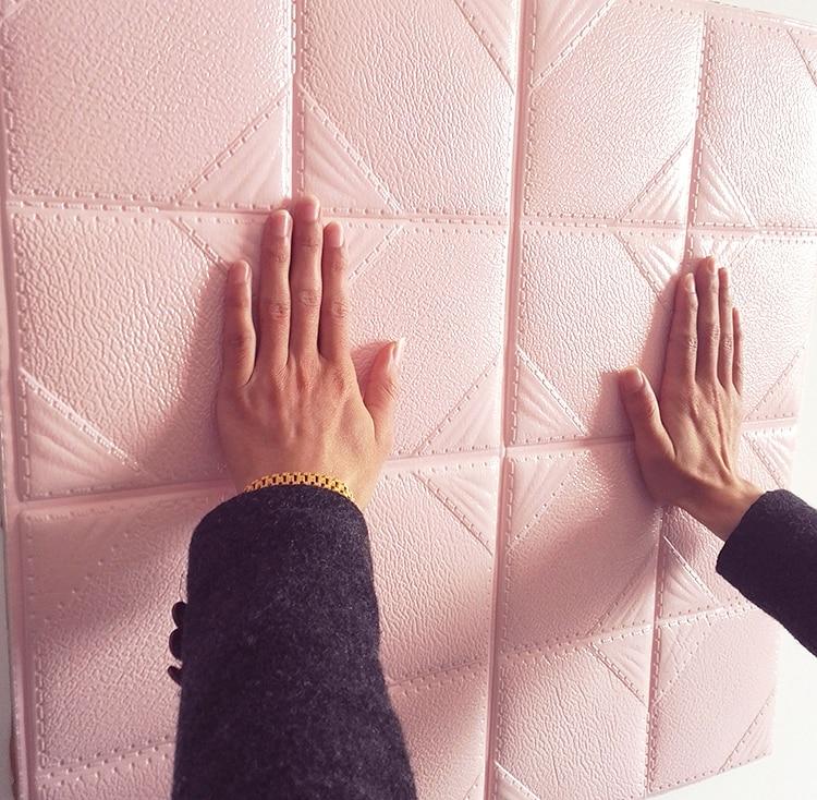 Самоклеющиеся обои, кожа, мягкий, водонепроницаемый, толстый, трехмерная Гостиная ТВ стена-153