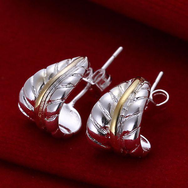 Estilo veraniego fino de plata de ley-pendientes de joyería de plata de ley 925-joyería de plata pendientes de pluma para mujer