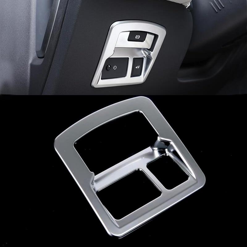 ABS cromo plata mate para interruptor de maletero placa moldura de cubierta de marco para Land Rover Range Rover Velar 2018 cubierta de interruptor de puerta trasera