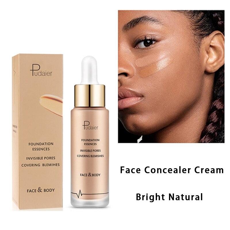 Crema hidratante Pudaier, Corrector Facial de cobertura perfecta, Corrector de contorno Facial, Corrector líquido de base de maquillaje