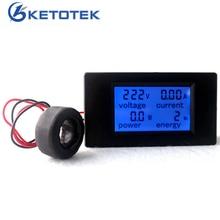 Ca 80-260V 100A 4 en 1 numérique LCD Volt ampèremètre Watt voltmètre ampèremètre avec transformateur de courant