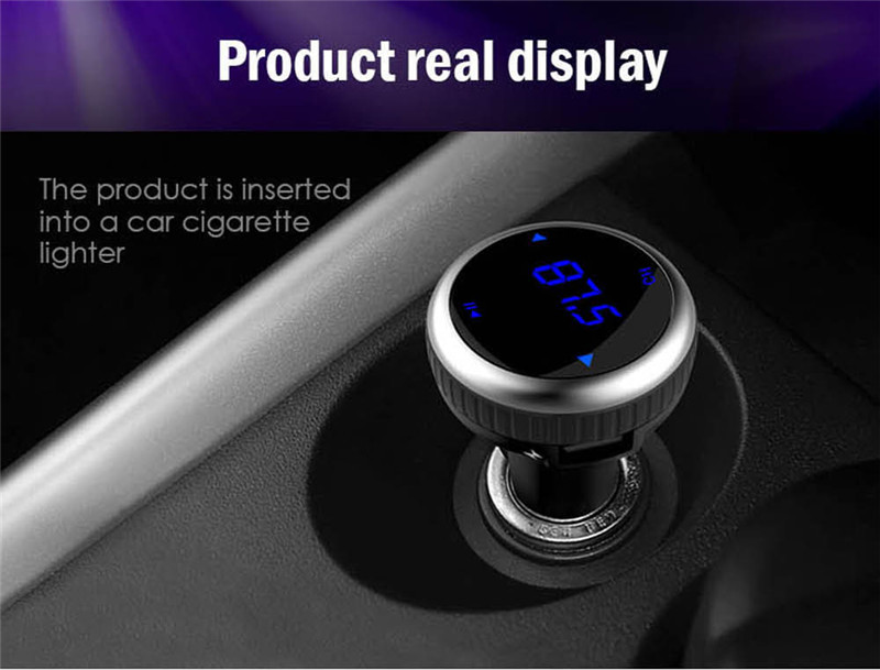 Samochodowy Odtwarzacz MP3 Audio Bluetooth Nadajnik FM Z Pilotem Zestaw Samochodowy Zestaw Głośnomówiący FM Modulator bezprzewodowy Ekran LCD w/TF gniazdo 3
