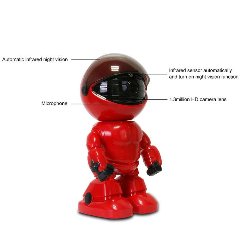 HD 1080P WiFi робот IP камера, камера безопасности с наклоном, WiFi камера с поддержкой P2P ночного видения, обнаружение движения, двусторонняя аудиос...