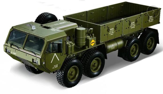 Kit de conversión de cuerpo pintado KTRC 8x8 8wd para camión militar RC Rock crawler 1/10 a escala HG Axial SXC10 RC8WD 6X6 RC8WD D90