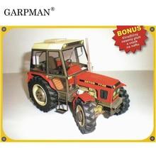 Construction Machinery Zetor 7745 / 7211 Tractor 3D Paper Model DIY Handmade Papercraft Toy
