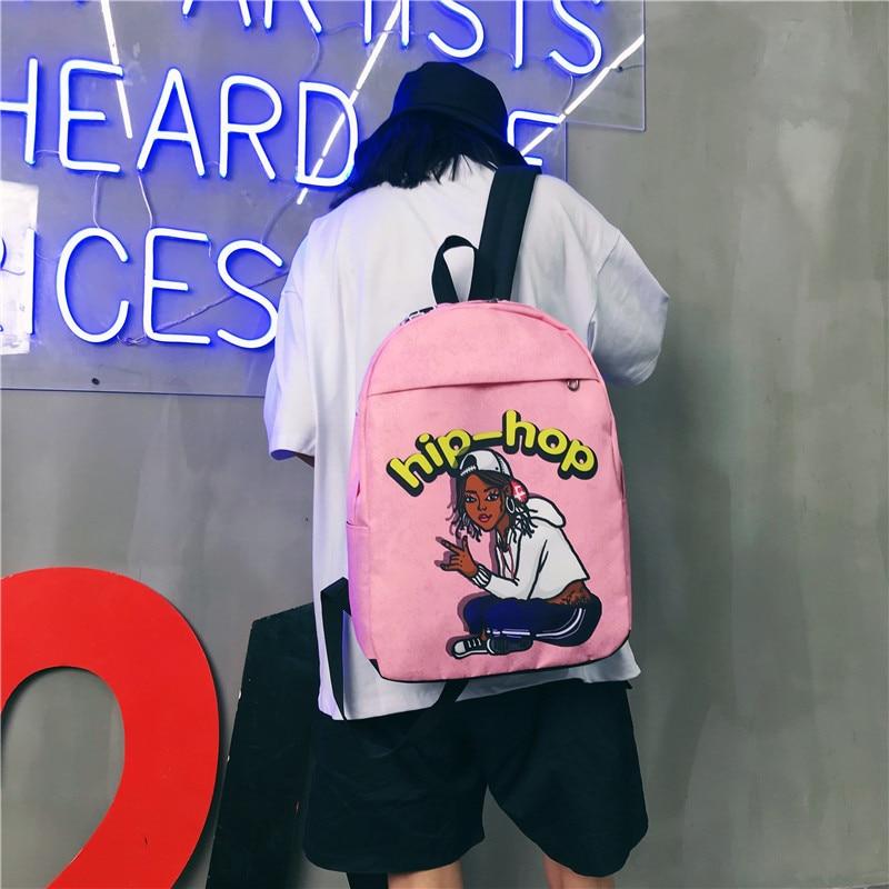 Moda mujer mujeres hombres oxford mochilas estilo fresco preppy escuela niños estudiante viaje portátil bolso de mano señora mochila bolsas