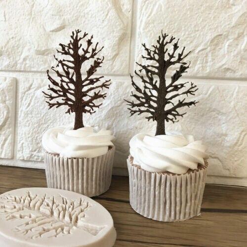 3D Дерево Силиконовые помадки шоколадный кекс торт украшения выпечки формы DIY Плесень