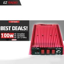 Amplificateur HF haut 100 W CB amplificateur de puissance Radio Mini CB amplificateur 100 W HF 20-30 MHZ automatique réception/transmission interrupteur BJ-300
