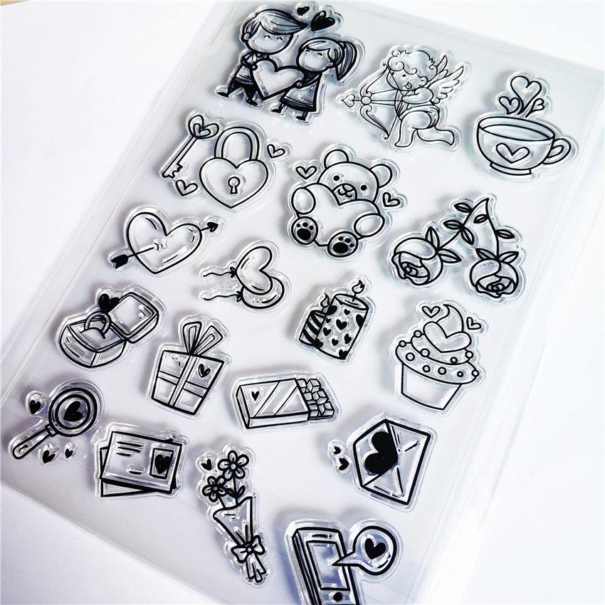 PANFELOU el oso regalos sello de silicona transparente/sello para DIY scrapbooking/álbum de fotos decorativo claro hojas de sello