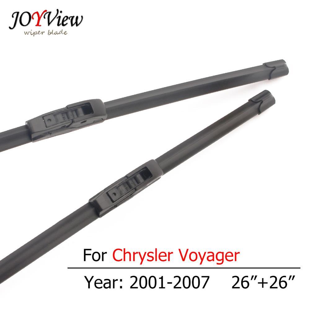 S410 Brisas Da Lâmina Do Limpador Do Carro para Chrysler Voyager 2001 2002 2003 2004 2005 2006 2007 Tipo Gancho Limpadores Dianteiros 26 + 26 polegadas