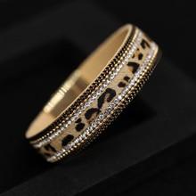 Women Bracelet 2021 Trendy Leopard Leather Bracelets Bangles Jewelry Gifts Female Crystal Bracelets