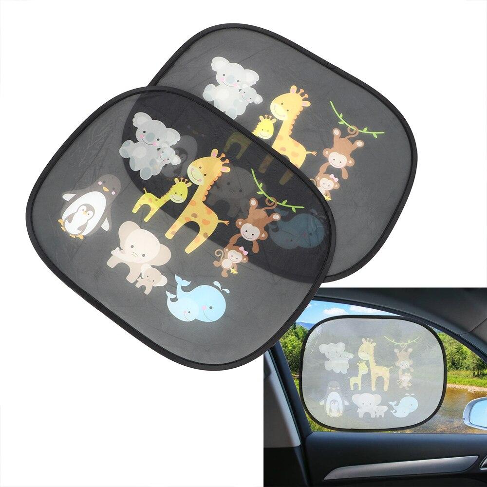 LEEPEE Auto Sun Shades Protector Windshield Shade Car Curtain Side Window Screen Sunshades Car-styling 2Pcs Windscreen Cover