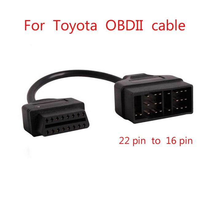 Para Toyota OBD conectar 22 Pin 22pin hombre a OBD2 OBDII DLC 16 Pin 16pin conexión hembra cables adaptadores cable de diagnóstico