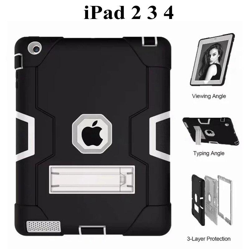 Новый защитный чехол для ipad 2, 3, 4, детский безопасный сверхпрочный силиконовый Жесткий Чехол для Apple ipad 234, 9,7-дюймовый чехол для планшета + пленка + ручка