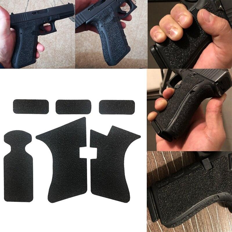 Nicht-slip Gummi Textur Grip Wrap Band Handschuh für Glock 17 19 20 21 22 25 26 27 33 43 holster 9mm pistole pistole magazin Teile