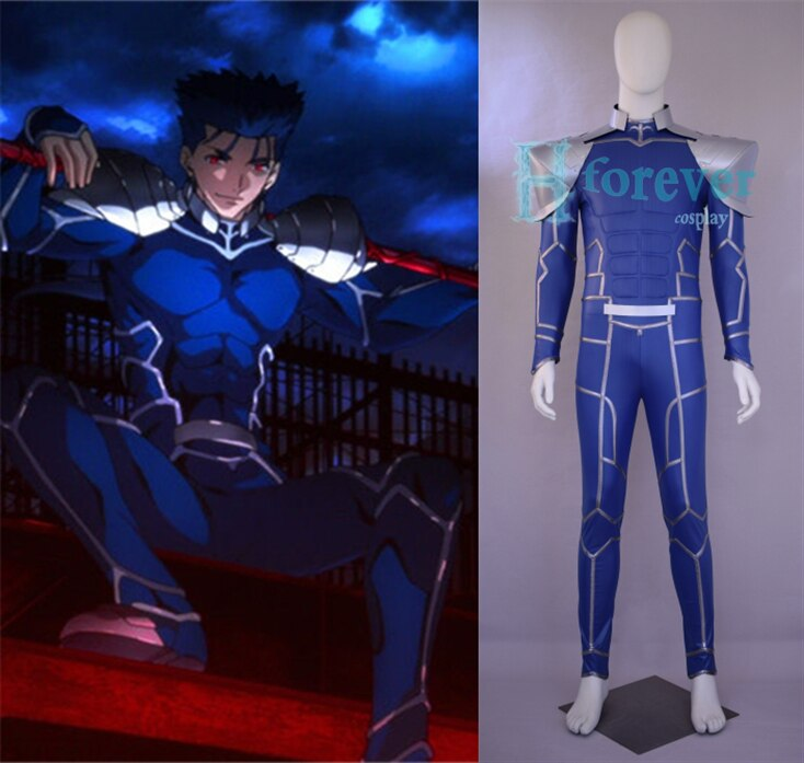 ¡[Personalizado] Anime! El destino/noche estancia Cu Chulainn Setanta Lancer monos Cosplay traje uniforme conjunto envío gratis