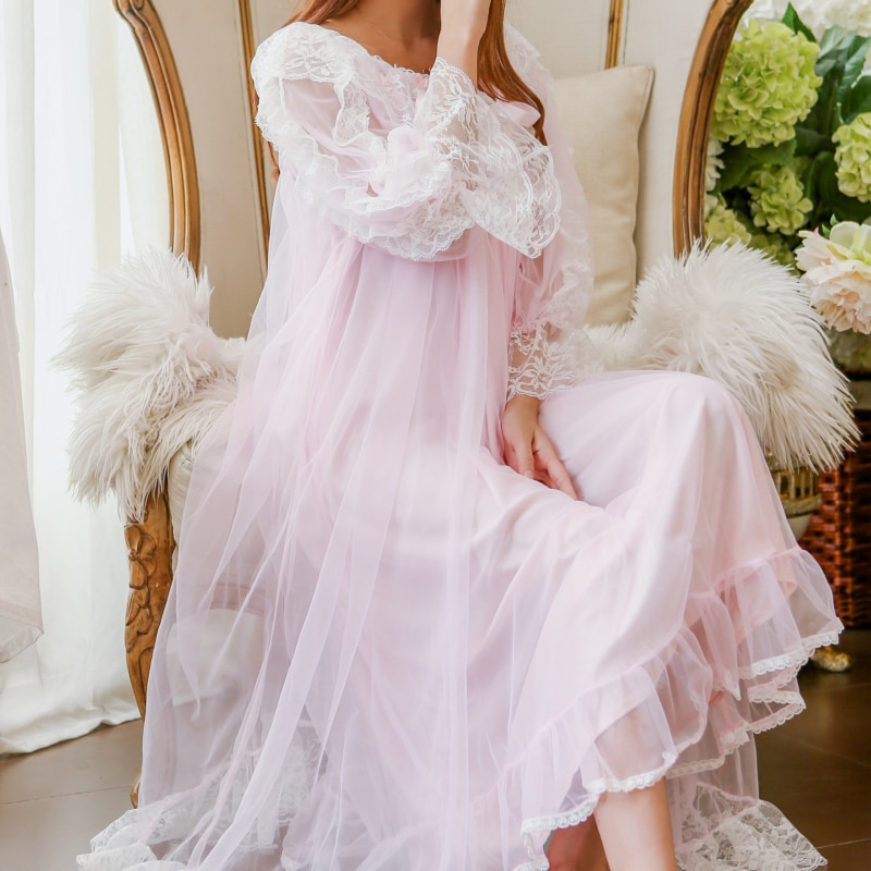 Prinzessin sweet lolita pyjamas Herbst Spitze palace lange pyjamas SQ08