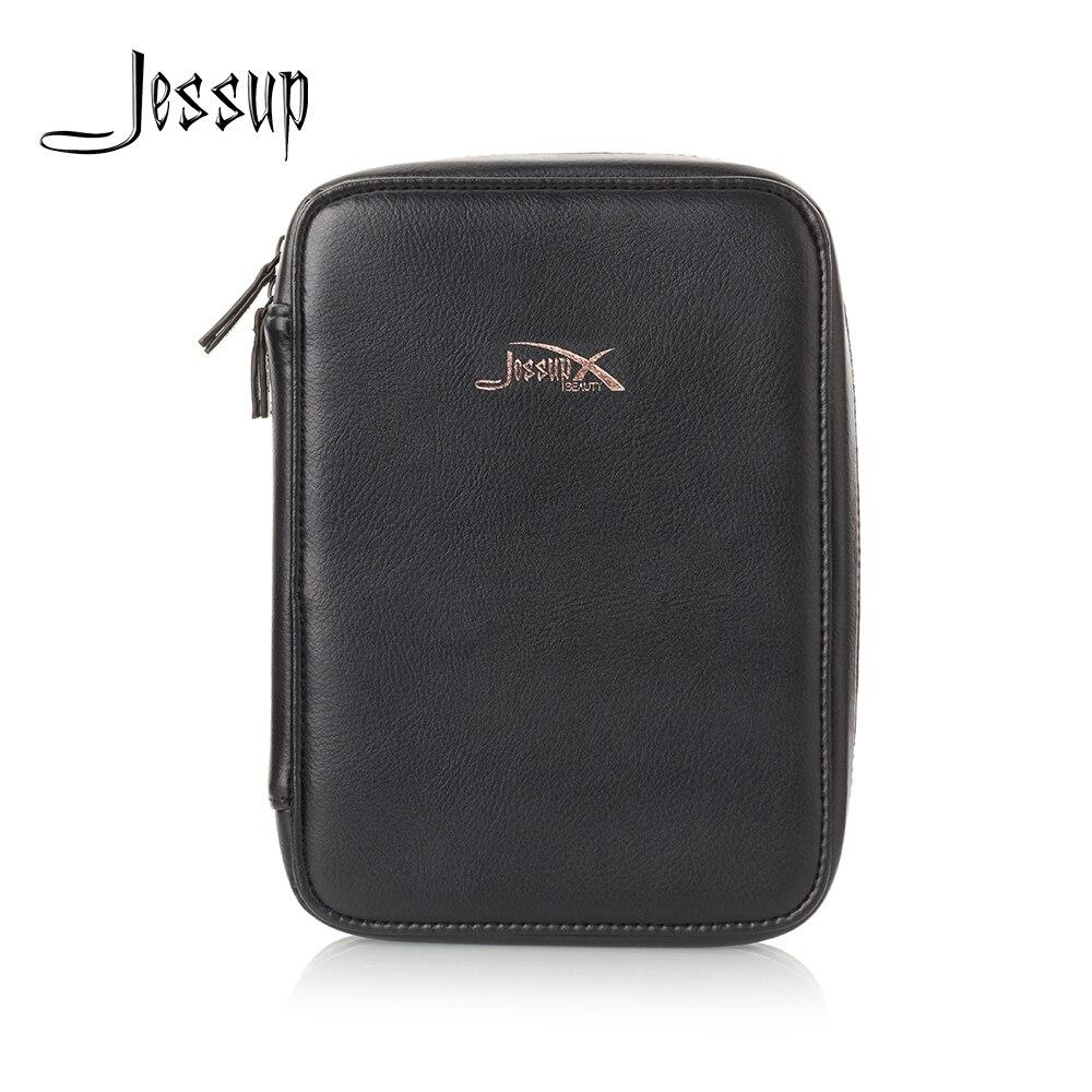 Jessup Brush Brand Cosmetics Bag Royal Gold & Black Women Bag Travel Makeup Case CB006 25.5*4.5*18cm