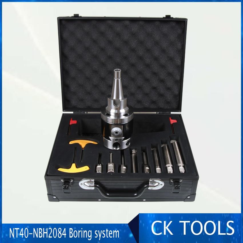 الدقة NT40-NBH2084 8-280 مللي متر مملة رئيس نظام أداة حامل + 8 قطعة M6 thread20mm مملة بار مملة رن 8-280 مللي متر مملة أداة مجموعة