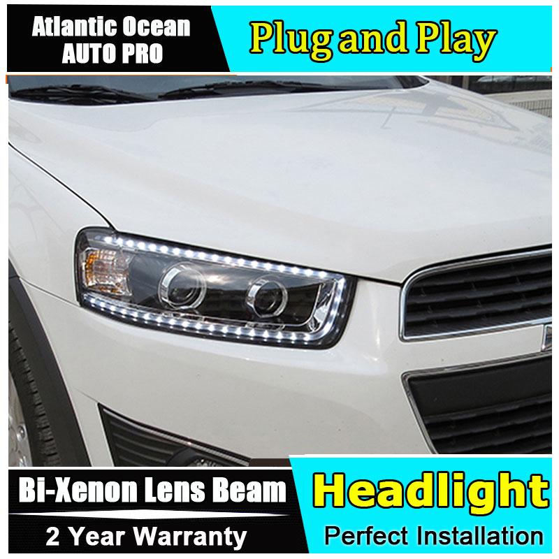 2012-2015 estilo de coche para Chevrolet Captiva faros LED nuevo Captiva led DRL lente doble haz HID KIT lente de xenón Bi Xenon