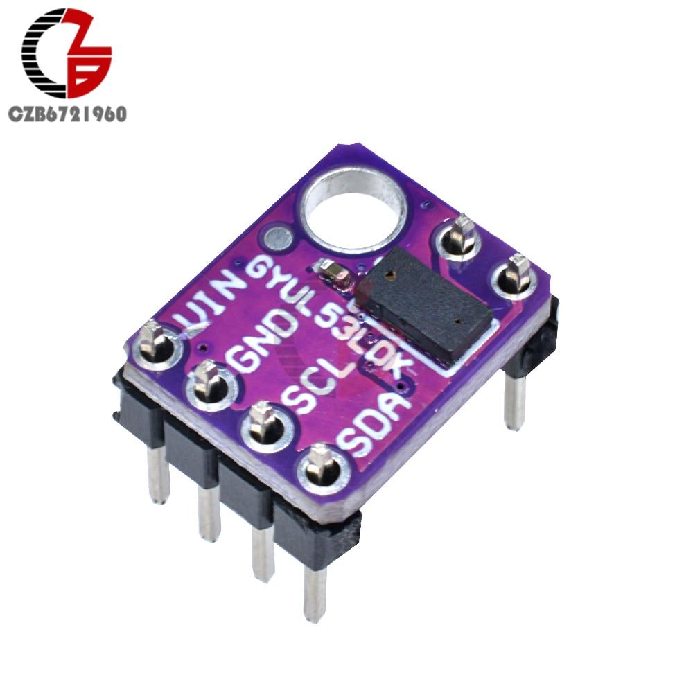 GY-530 VL53L0X ToF Sensor DC 2,8-5V Módulo de Sensor de distancia de vuelo láser Sensor de rango de ajuste IIC I2C medición de distancia