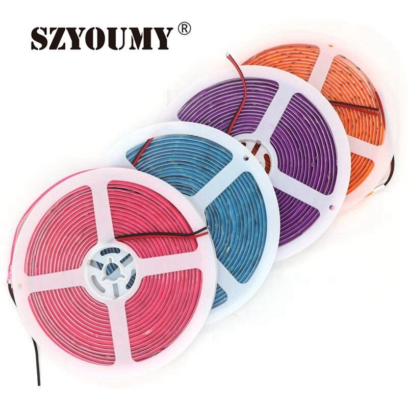 SZYOUMY Nova Chegada 5630 Neon SMD LED Strip Rainbow Light Purple/Pink/Green/orange/Azul À Prova D Água 300 Leds de Cor Fluorescente
